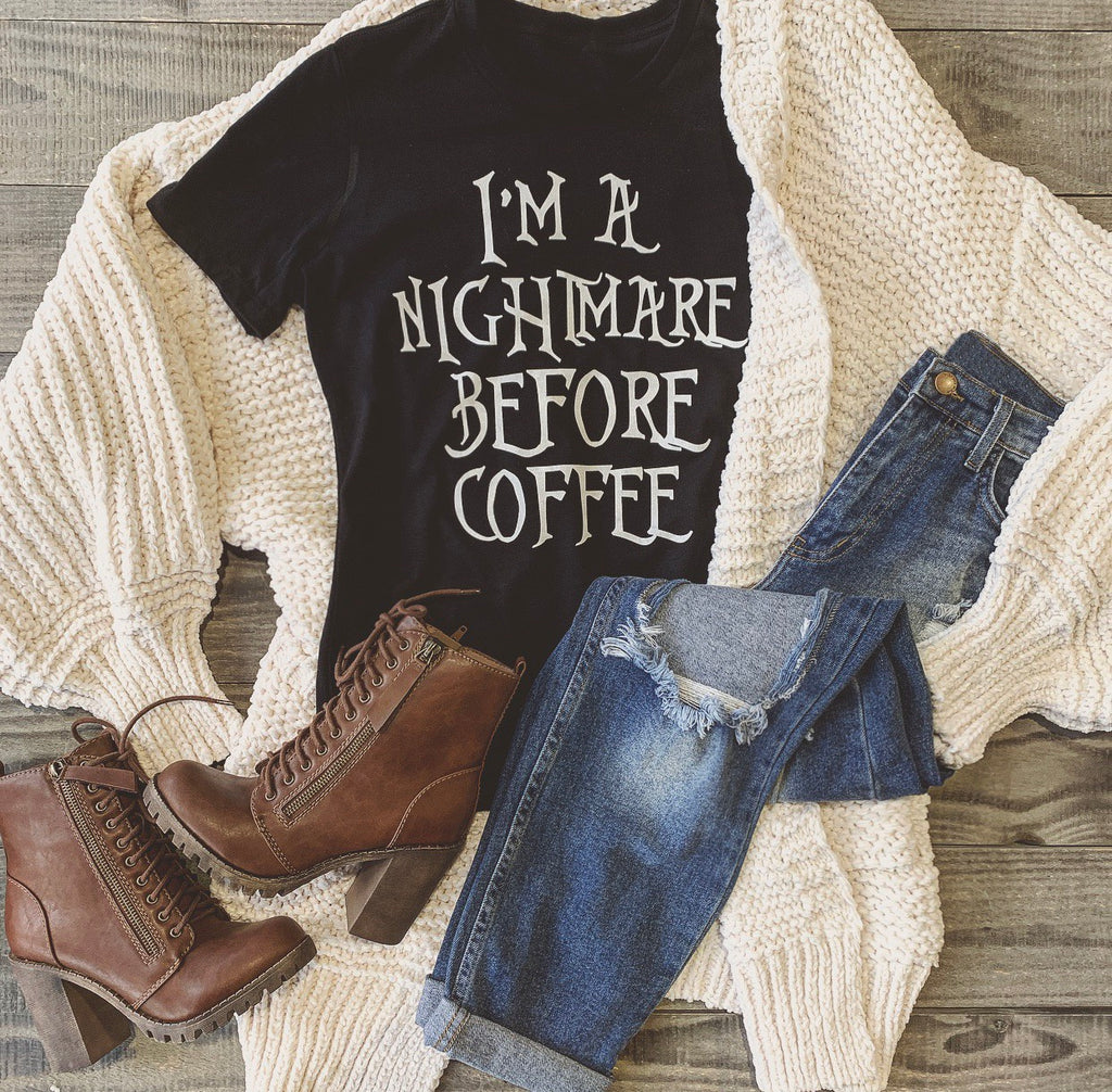 Nightmare Before Coffee Tee