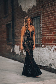 The Goddess Maxi Gown (Black)