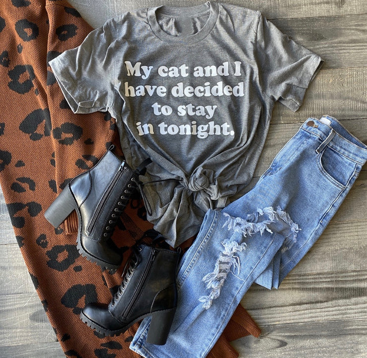 Stay In With My Cat Tee