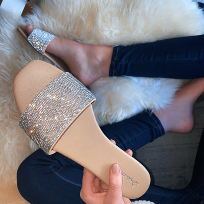 Glam Rhinestone Sandals