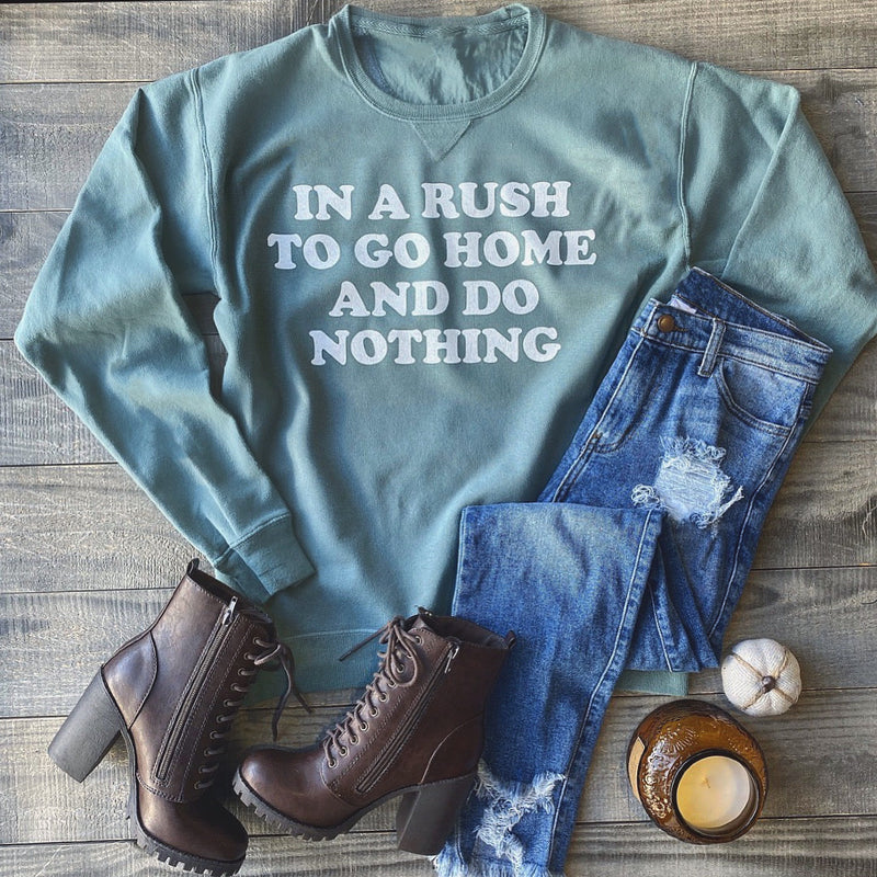 In A Rush Sweater (Vintage Sea Blue)