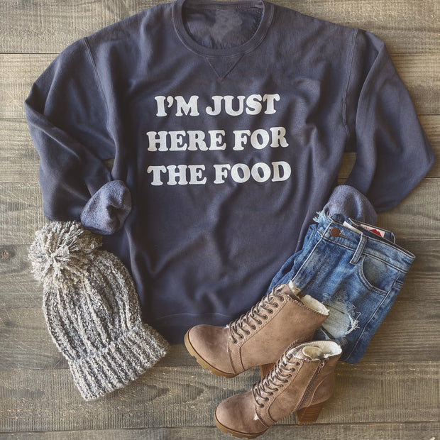 Here for the food Sweater (Vintage Navy)