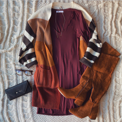 Dannie Striped Cardigan