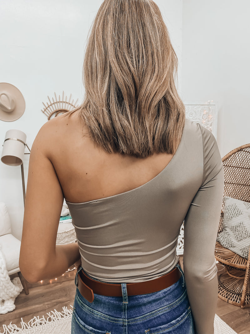 Perfect Match Bodysuit (Khaki)