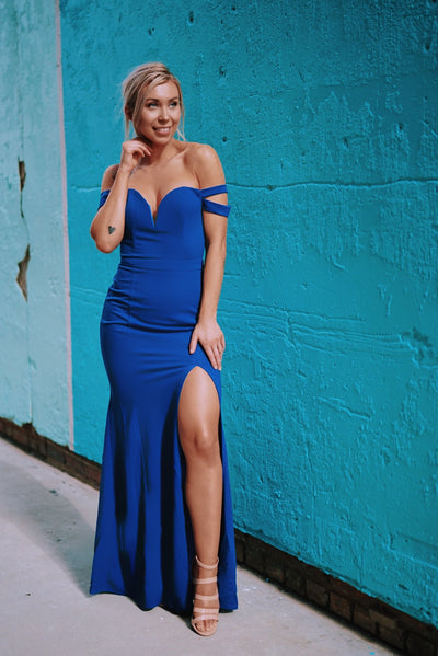 Enchanted To Meet You Gown (Royal Blue)