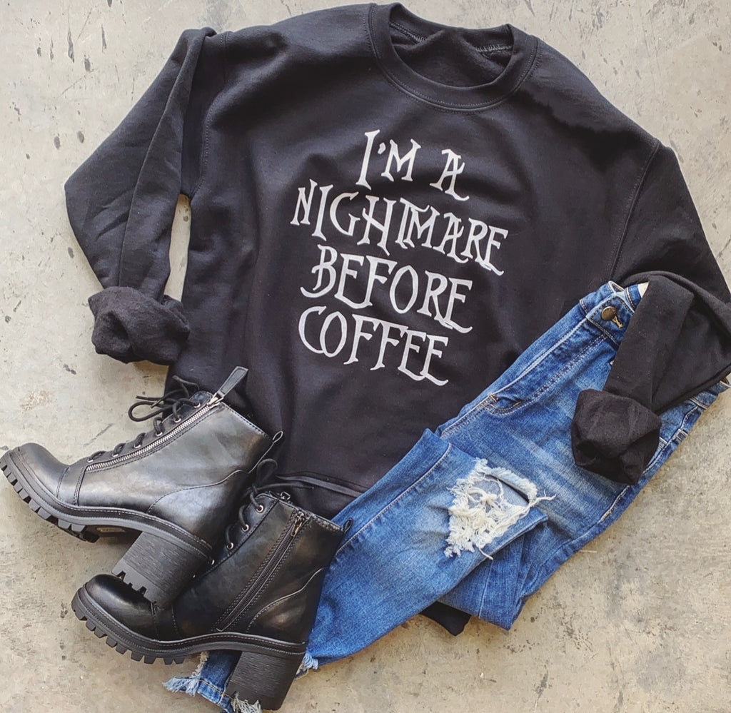 Nightmare Before Coffee Sweater