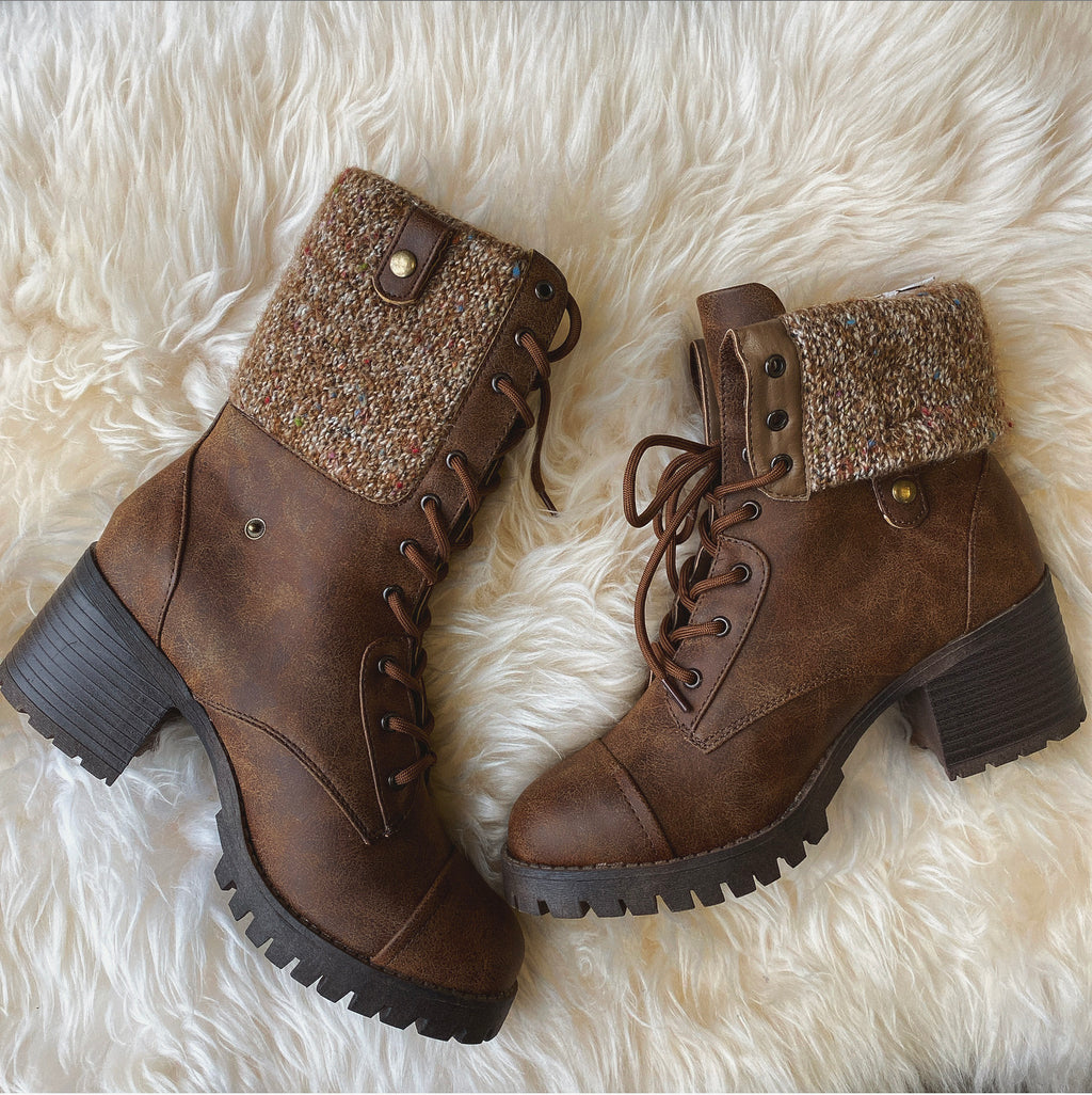 Adventurer Knit Boots (Tan) - FINAL SALE