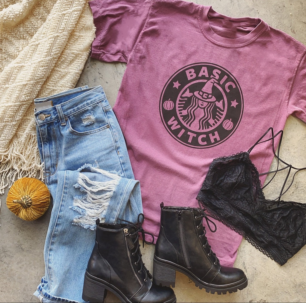 Basic Witch Tee (Plum)