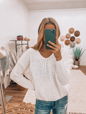 As You Wish Knit Sweater (Ivory)