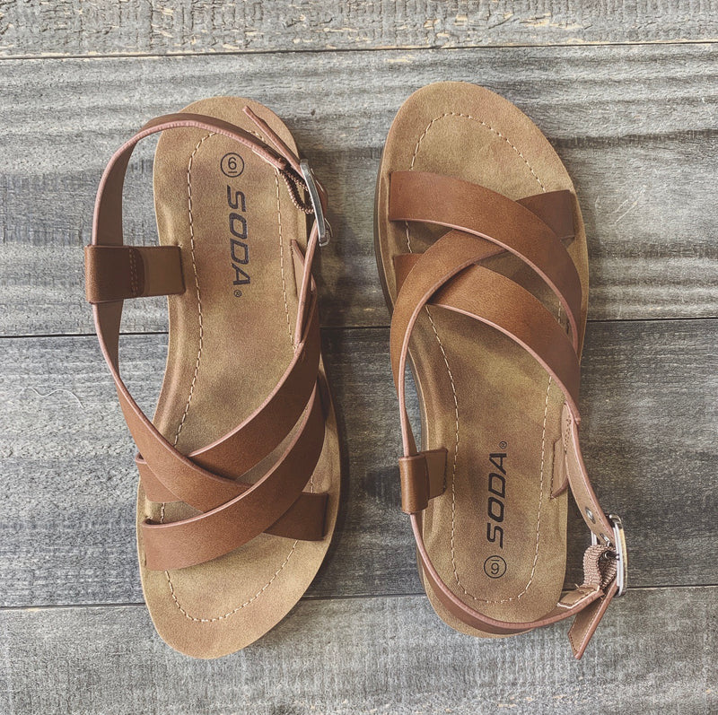 Slingback Sandals (Tan) - FINAL SALE