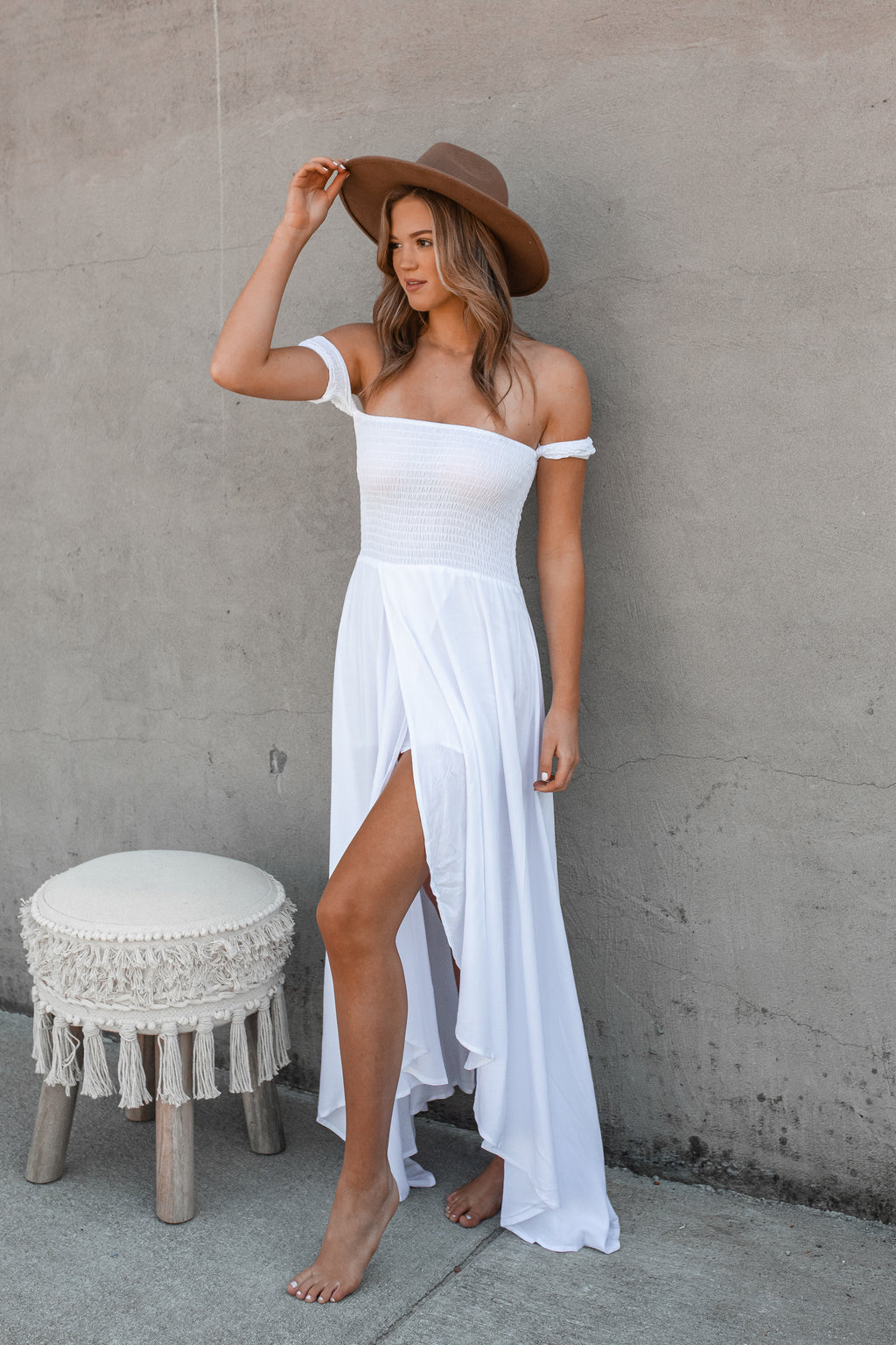 Harmony Hi-Low Dress (Ivory)