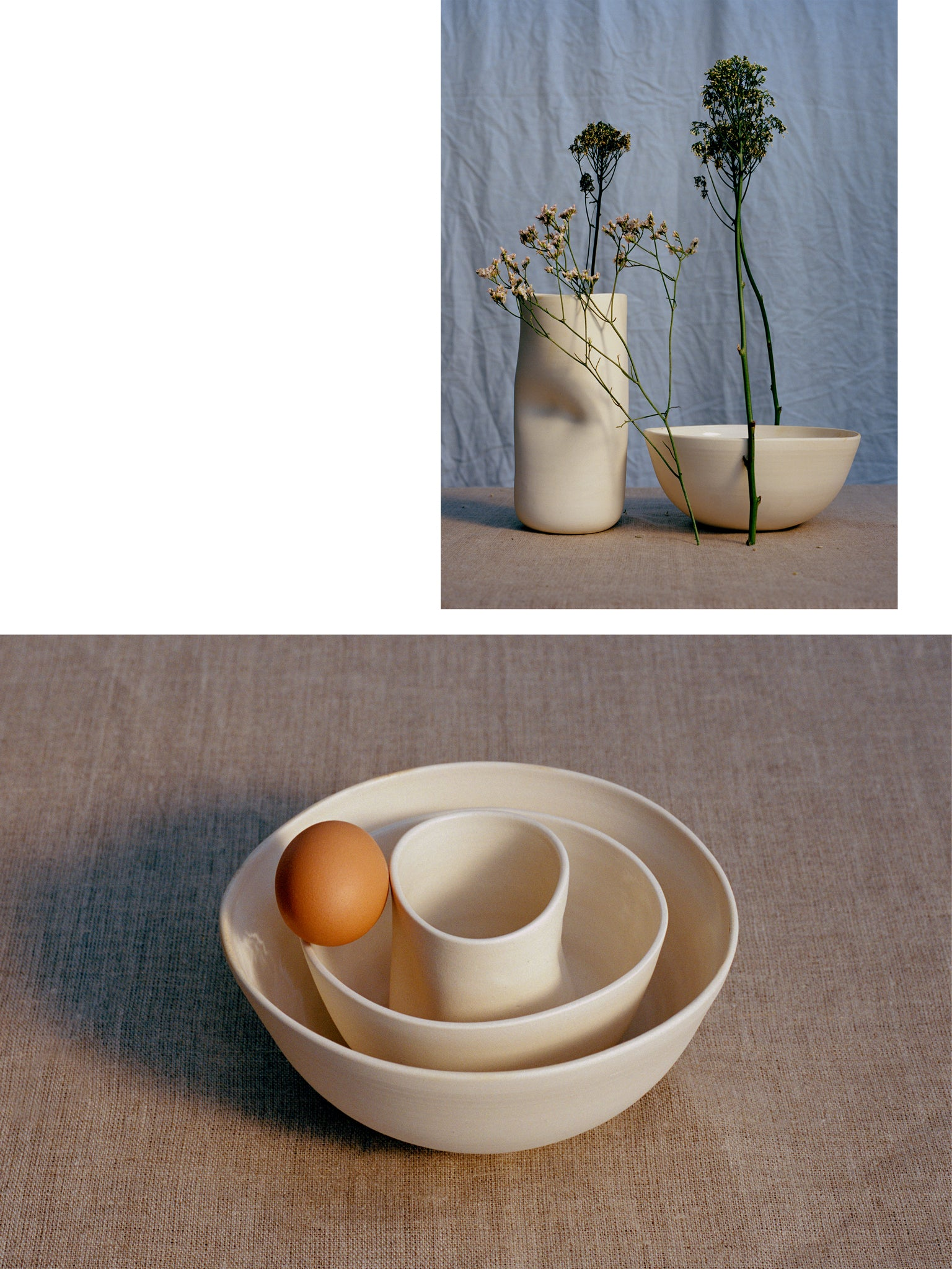 luxurious handmade ceramic still-life