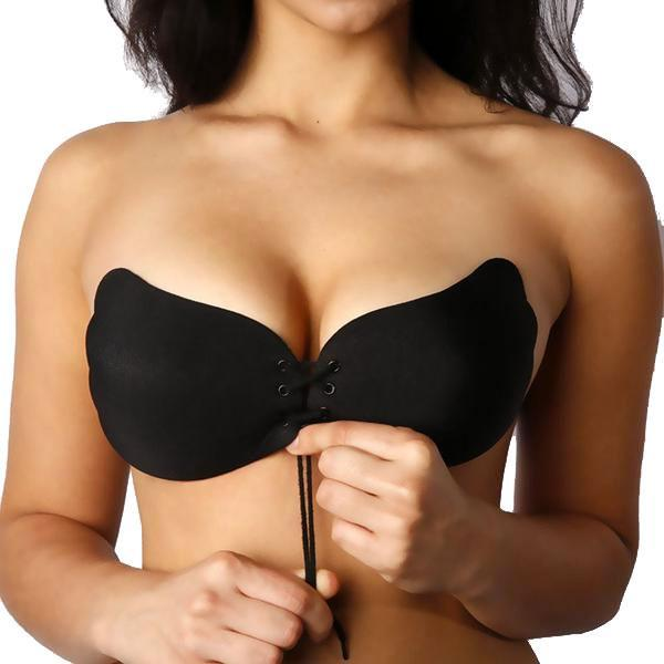 Strapless Silicone Push Up Bra - best waist trainer canada toronto sale
