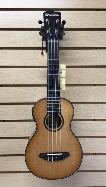 Breedlove Lu'au Concert Natural Shadow E Ukulele Sitka/Myrtlewood