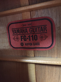 "Yamaha FG-110 Nippon Gakki ""Red Label"" Acoustic Guitar (used)"