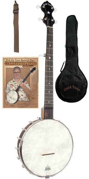 Gold Tone CC-OTA A Scale Cripple Creek Openback Banjo Clawhammer Package