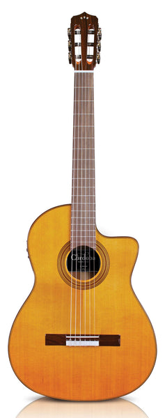 Cordoba Fusion Series 12 Natural acoustic-electric Cedar Top Nylon String Guitar