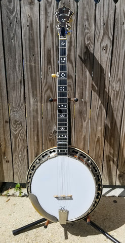 Stelling Bellflower 5-String Resonator Banjo (used)