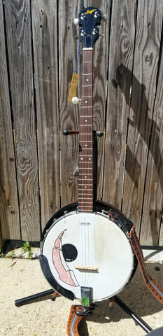 Saga 5-String Resonator Banjo w decorative head (used)