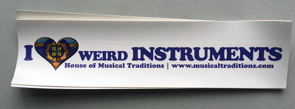 I Love Weird Instruments Bumper Sticker