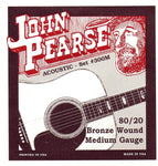 John Pearse 80/20 Bronze Wound Medium Gauge Strings (#300M)