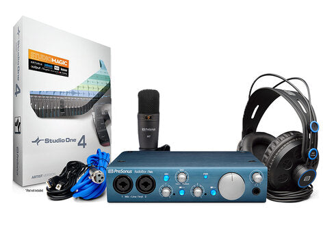 PreSonus AudioBox iTwo Studio Bundle USB/iPad Recording System w/Mic & Headphones