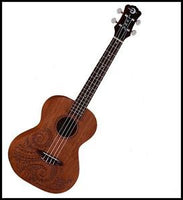 Tattoo Mahogany Tenor Ukulele by Luna