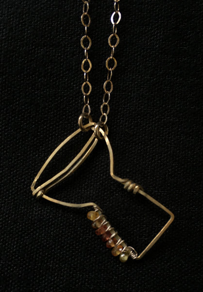Handmade Wire-Wrapped Instrument Necklaces