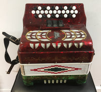 RMM Button Accordion, GCF, Mexican Flag (used)