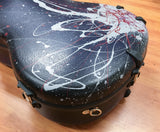 Calton Guitar Flight Case, Dreadnought, Custom Indigo Navy Spatter