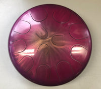 "Ajna 16"" 12-Tone Steel Tongue Drum, Candy Purple/Pink Burst, E Hijaz (used)"