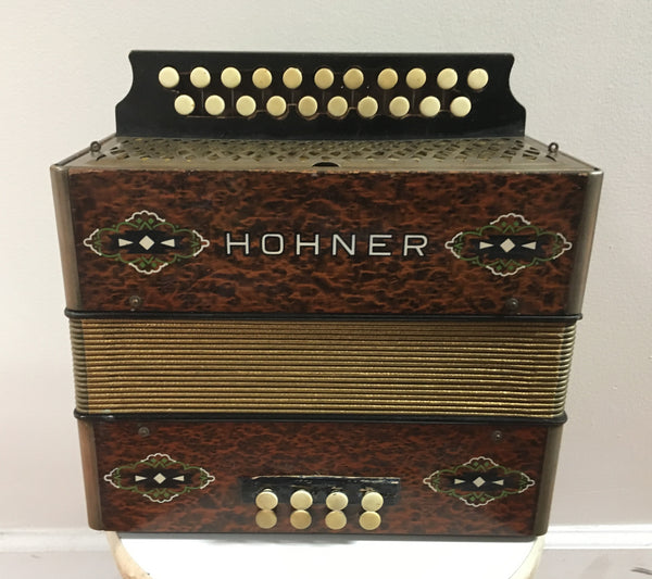 Hohner Two-row G/C Melodeon Button Accordion (used)