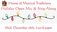Wed. Dec 18: Holiday Open Mic & Sing-Along