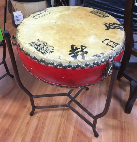 Chinese Opera Drum, 14 inches, with Stand (used)