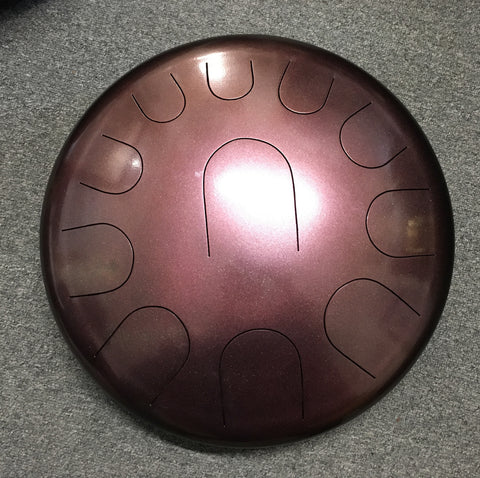 "16"" Burgundy C Akebono Ajna Metal Tongue Drum"