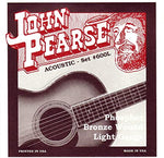 John Pearse Phosphor Bronze Wound Light Gauge Strings (#600L)