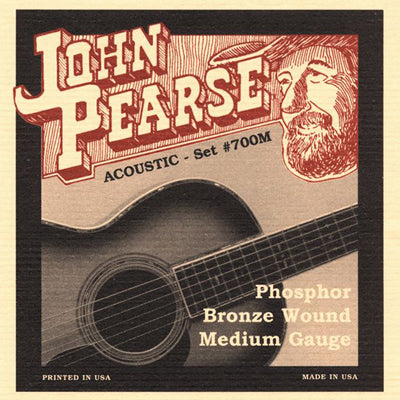John Pearse Phosphor Bronze Wound Medium Gauge Strings (#700M)