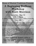 Sat. May 12 - Beginning Bodhran Workshop with Scott Morrison