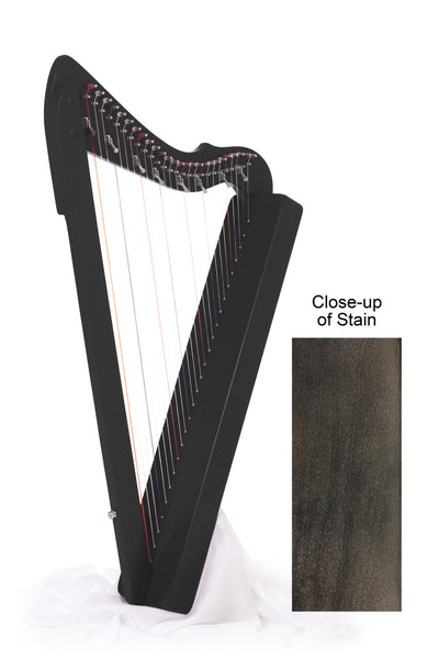 "Harpsicle ""Sharpsicle"" 26-String Folk Harp, Black"