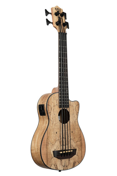 Kala Spalted Maple U-BASS UBASS-SP-MAPL-FS