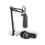 Audio Technica AT2020USB+ Pack With Headphones and Crane Boom Stand