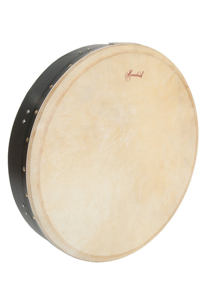 Roosebeck Tunable Mulberry Bodhrán Single-Bar 14-by-3.5-Inch - Black