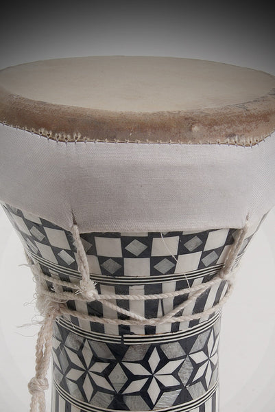 Ceramic Pretuned Doumbek 5x8 - Inlay by Mid-East