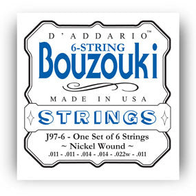 D'Addario Greek Bouzouki 6-String Set