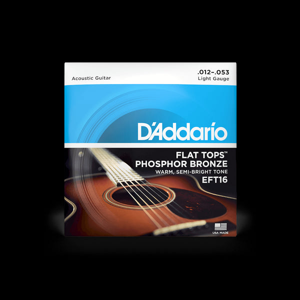 D'Addario EFT16 Flat Top Acoustic Guitar String Set
