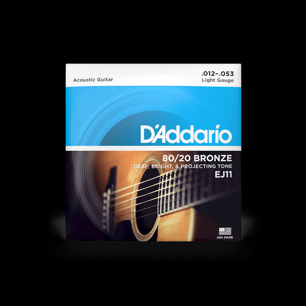 D'Addario EJ11 80/20 Bronze Light Gauge Acoustic Guitar String Set