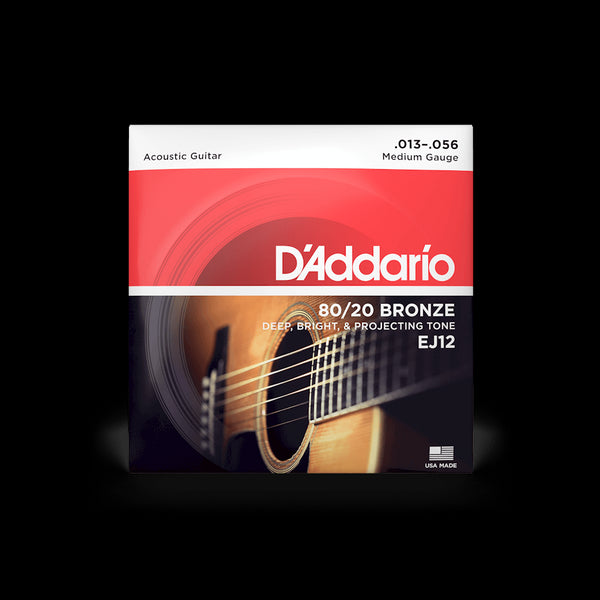 D'Addario EJ12 80/20 Bronze Medium Gauge Acoustic Guitar String set