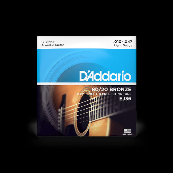 D'Addario EJ36 80/20 Bronze 12-String Acoustic Guitar String Set