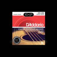 D'Addario EXP17 Medium Gauge Coated Phosphor Bronze Acoustic Guitar Strings