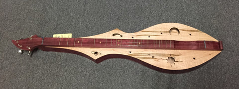 Robert Worth Cosmic Lap Dulcimer, Purpleheart